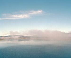Mist clearing, Tantangara reservoir