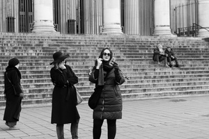 Tourists at the Brussels Stock Exchange