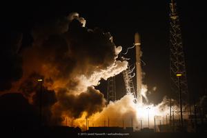 Liftoff of the Falcon 9 Rocket