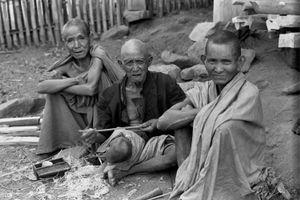 Three village elders, 1973