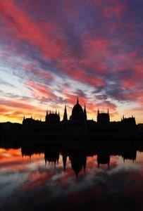 Sunrise in Budapest.