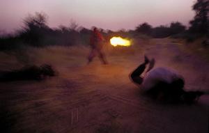 Gunfire during smuggler's arrest