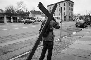 Man Bearing A Cross, Kingston, NY.