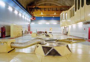 Machine room floor (generators), Rangipo Underground Power Station, New Zealand 2005 © Wayne Barrar