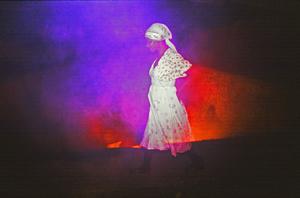 Woman Near the Burning Dump in Port-au_Prince