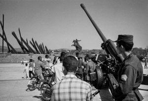 Piece of artillery ,Cuba,  Santiago de Cuba, Kuba, January 1996