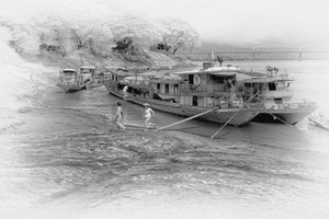 Docking on the Chindwin River