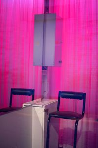 Empty chair pink
