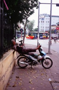 A bike taxi waiting for customers