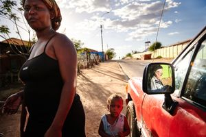 Whenever possible Father Hermann ventured out to Katutura, the township outside Windhoeck, to look after sole women who have to sell their bodies in order to have something to eat.