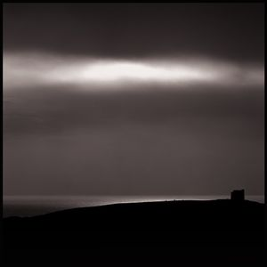Obscured moon | St Catherine's Chapel Abbotsbury | Dorset England | December 2016