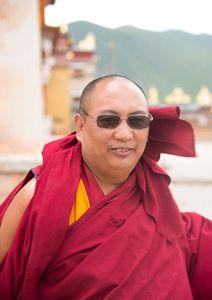The happy buddhist monk