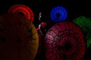 Burmese Umbrellas