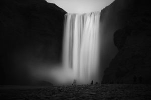 Waterfall under the storm