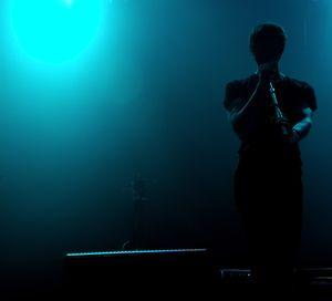 Music, light suggestive shapes