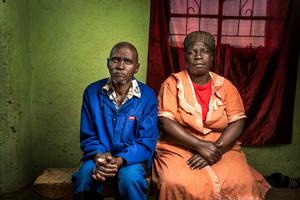 Zaneyeza Ntloni with his wife Nomfazwe - Flagstaff, South Africa 2015