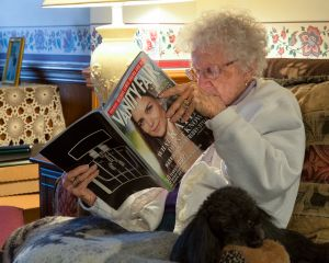 Mom Reading Vanity Fair