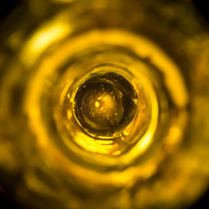 "Unmarked ""black glass"" bottle c1700's"