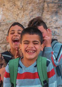 smiling in palestinian