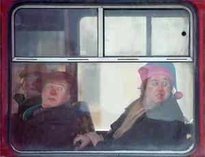 Window of cyrcus bus