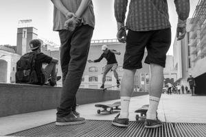 Scène de skate au Macba