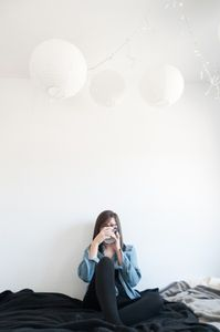 Jeeyoon in Her Apartment