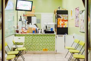 Green shop interior