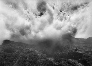 "Underwater ""Surf Clouds"" Over Volcanic Reef,  ""Las Animas"" Reef, Sea of Cortez, Mexico."