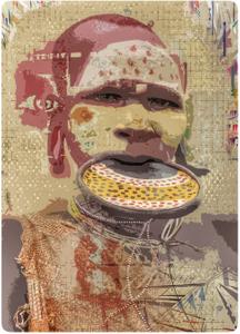 Suri Woman, (digitally rendered from my photo)