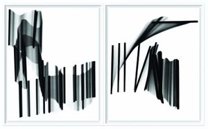 Dancing Sticks I & II. Showing at HackelBury Fine Art. Courtesy of PhotoLondon.