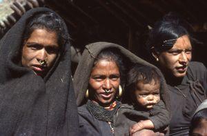Village women. Jumla, Nepal. March 1979.