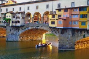 La luce è l'oro di Firenze.