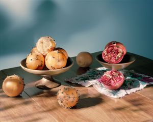 Still Life with Pomanders and Pomegranate