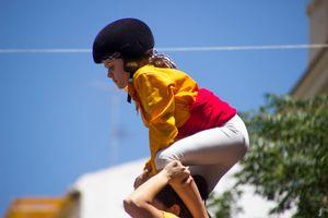 The bravery of a child. La valentía de una niña.