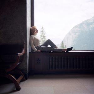 Nadine as Marilyn Monroe, Banff, Alberta, Canada, 2014.