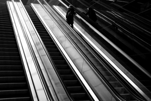 Escalator to the Plattform