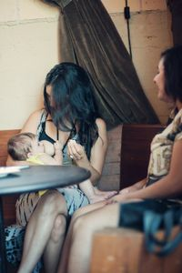 Breastfeeding in real life | in a restaurant.