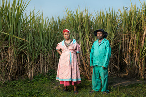 Masiko Somi with his wife Magumede - Bizana, South Africa 2015