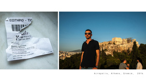 SOUVENIRS AND POSTCARDS FROM A TRIP: Acropolis, Athens, Greece