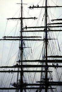 Russian sail-training vessel S/V Kreuzenstern visiting Brooklyn, NY