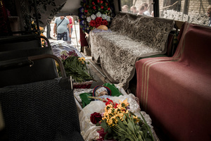 Funeral  of Wanya Ermilov who died during the air attack on the village