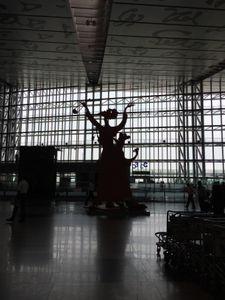 Sculpture in a strong light