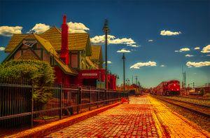 Yellow Red Brick-Train Station