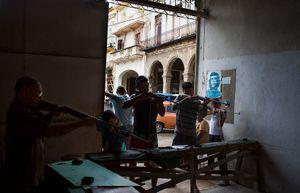 Shooting Gallery, Havana Cuba, 2013