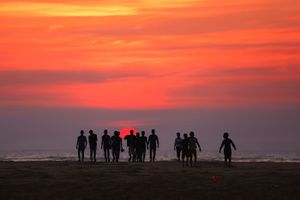 Sunset Bay of Bengal