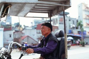 Uncle on a trike