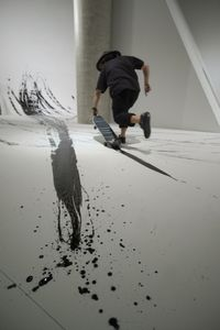 "Skateboarding calligraphy ""FREEHAND""by Takahiro Morita _5"