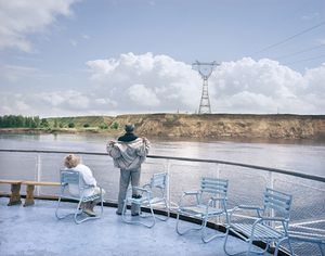 Holidaymakers onboard the Afanasy Nikitin cruise ship. Volga River.Volga, June 2005 From the book, Motherland, by Simon Roberts © Simon Roberts