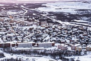 On top of Kiruna's ski hill you can see the whole town, still mostly untouched by the mines activity for now...