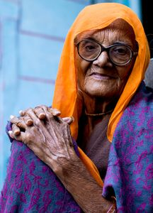 Old lady, India